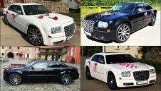 Auto do ślubu - chrysler 300C - biały i czarny  -  Kwidzyn  -  pomorskie