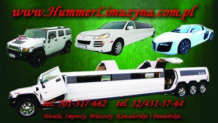 HUMMER LIMUZYNA USTROŃ,WISŁA,LUBLINIEC,GLIWICE,PYSKOWICE,np. Transport gości weselnych - Ustroń - śląskie