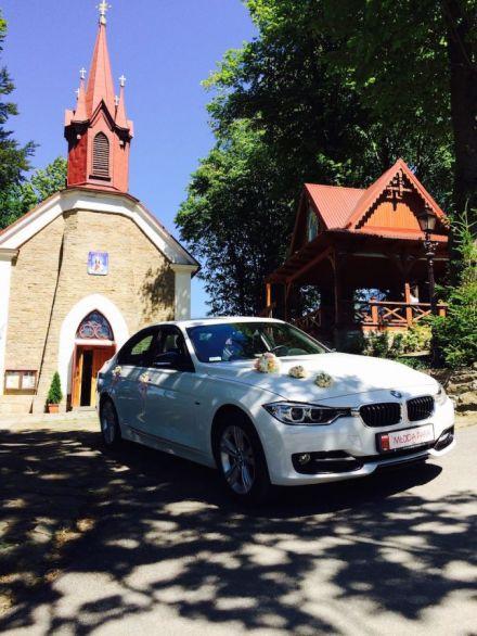Białe BMW F30 sport. Zywiec - Bielsko-biała, samochód do ślubu - - Żywiec - śląskie