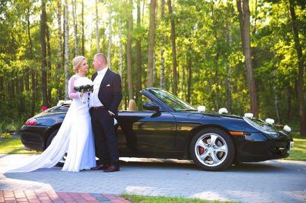 Kultowe Porsche 911 na ślub, czarne, kabrio  -  Rzeszów  -  podkarpackie