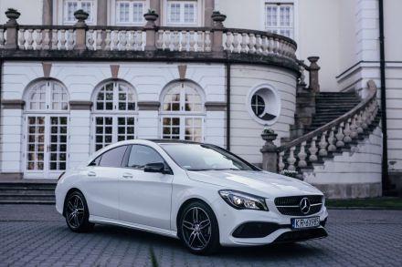 Auto na ślub, Biały Mercedes CLA w pakiecie AMG, samochód na wesele, Kraków - Kraków - małopolskie