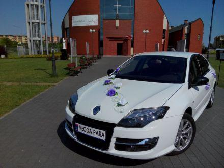 Białe Auto Do Ślubu. Renault Łódzkie - Piotrków Trybunalski - łódzkie