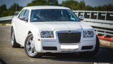 Biały Chrysler 300c na Twoje wesele, slub - wynajem samochodów do slubu  -  Rybnik  -  śląskie