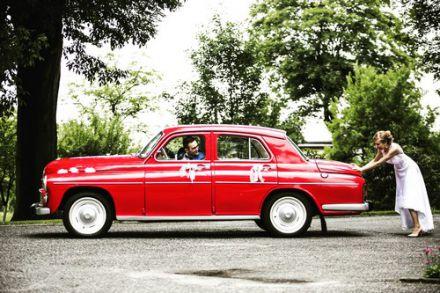 Czerwona Warszawa FSO auto do ślubu, samochód retro na wesele - Olsztyn - warmińsko-mazurskie