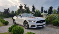 Auto na Ślub - Biały Mustang Cabrio - wolne terminy 2019  -  Warszawa  -  mazowieckie