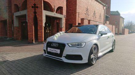 Białe Audi do ślubu  -  Andrychów  -  małopolskie