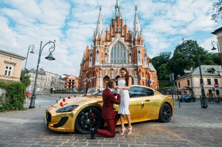 Złote Maserati GT - Jedyny taki kozacki samochód do ślubu - Kraków - małopolskie